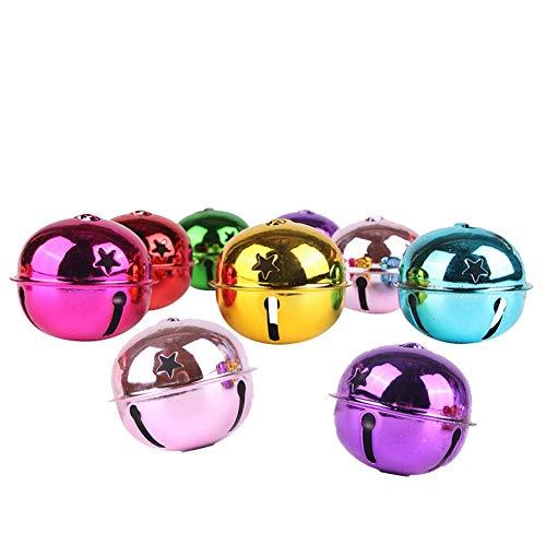 20 Stück Glöckchen, Metallglöckchen, Weihnachtsglocken, Bunte, Weihnachtsschmuck, Pet Glocke Schlüsselanhänger Glocke Zubehör (24MM)