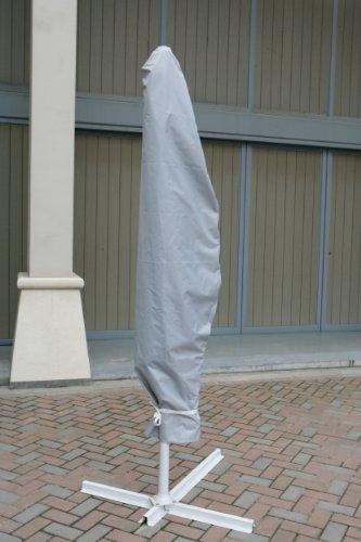 Housse de protection pour parasol décentré avec cordelette de serrage pour fixation