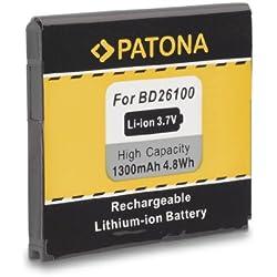 PATONA Batterie BA-S470 BD26100 1300mAh pour HTC A9191 Inspire 4G T8788 Desire HD HTC Ace T-Mobile MyTouch HD