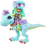 Cave Club Rockelle Doll and Dinosaur Bestie Playset with Accessories, 4 Years and Up