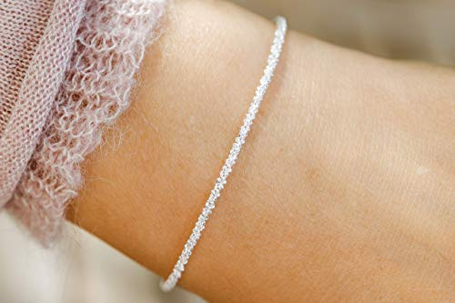 Armkette fein strukturiert und diamantiert 925 silber Geschenk