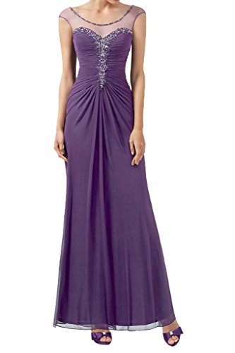 Victory bridal enveloppé hundkragen abendkleider paillettes ballkleider partykleider 2015 manches longues Violet - Lilas