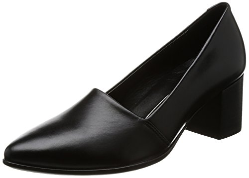 ECCO Damen Shape 45 Pointy Block Pumps, Schwarz (Black 01001), 41 EU Black Leather Simple Pumps