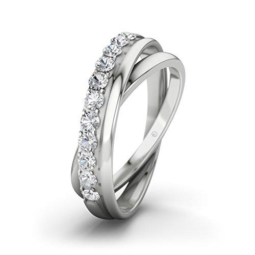 Damen-Ring Verlobungsring Phoebe 21D mit Zirkonia Brillantschliff, Silber Gr.51 (16.2) Verlobungsringe, 21Diamonds (Phoebe Stein)