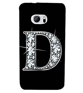 Alphabet D 3D Hard Polycarbonate Designer Back Case Cover for HTC 10 :: HTC One M10