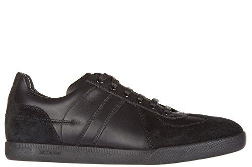 Dior scarpe sneakers uomo camoscio nuove nero EU 40.5 3SN001VCR