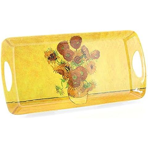 Girasoli di Van Gogh design 39cm Medium Sandwich vassoio in melamina