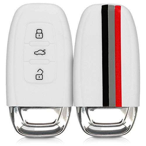 kwmobile Cover Chiave Auto Audi - Guscio Protettivo coprichiave in Morbido Silicone TPU - Custodia per Chiave Audi con 3 Tasti Keyless