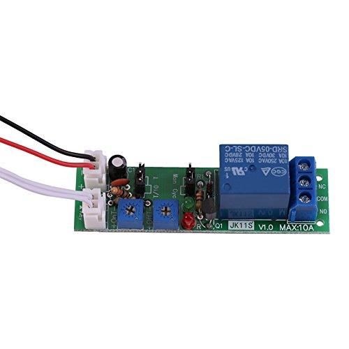 Modulo Ritardo Temporizzatore Ciclo Modulo Relè Accensione/Spegnimento Regolabile Dc 5v 12v 24v (DC5V,0-30min)