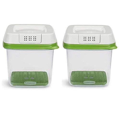 3 Cup Container (Rubbermaid freshworks produzieren Saver Food Container, mittel, 6, 3Cup, grün/Set von 2)