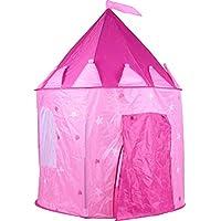 Koop Homewares Castle Play Tent for Children Girls Indoor Play House Castle Tent Pink princess