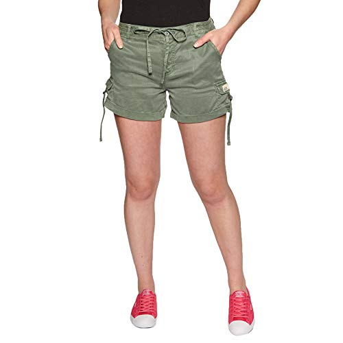 Superdry Tencel Cargo Womens Shorts Small Desert Sage Womens Cargo