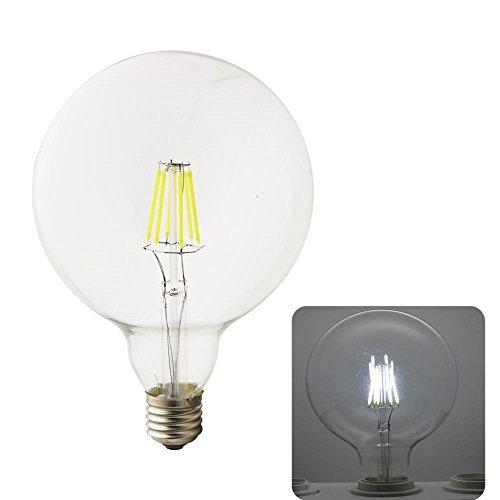 G125 LED Glühbirne E27 kaltweiß 6000K 6W 220V AC LED Glühlampe 500 Lumen LED Globe Glühbirne (Edison Lampe Stand)