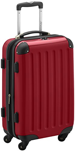 HAUPTSTADTKOFFER - Alex - Bagage à main cabine, Trolley rigide, 55 cm, 42 litres, Rouge
