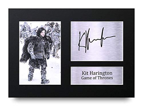 HWC Trading Kit Harington Geschenke A4 Gedrucktes Autogramm Game Thrones Jon Snow Druck-Foto-Bilderanzeige -