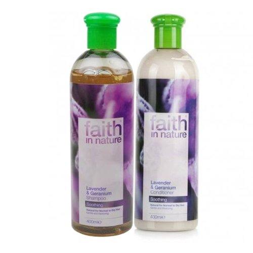 Faith in Nature Lavande et géranium Shampooing et après-shampooing