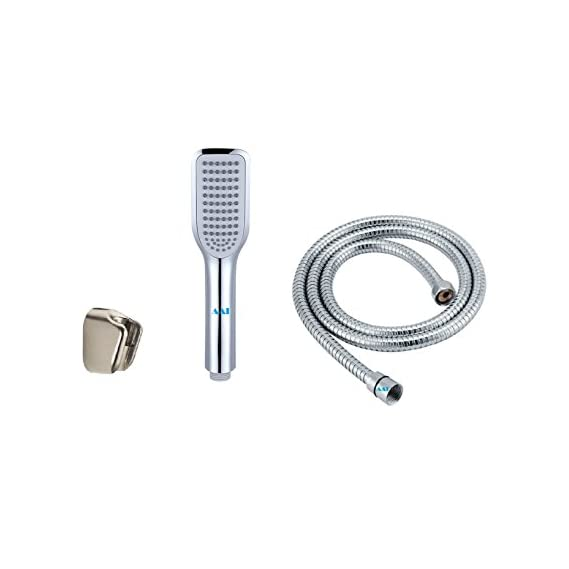 AAI JET SILVER HAND SHOWER WITH HOSE AND WALL BRACKET COMPLETE SET