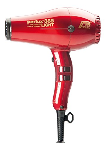 Parlux 385 Asciugacapelli Powerlight, con dispositivo IONIC & CERAMIC, Rosso