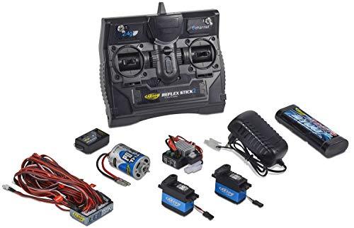 Carson 500501015 500501015-Reflex Stick Truck-Set 2.4G 6 Kanal, Modellbau, 2,4 GHz Fernsteuerung, Empfänger, inkl. Zubehör, Anleitung, schwarz -