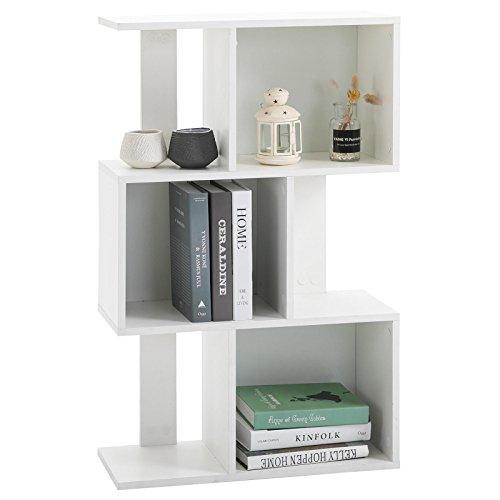 CARO-Möbel Raumteiler Odessa Bücherregal Raumtrenner in weiß mit 6 Fächern