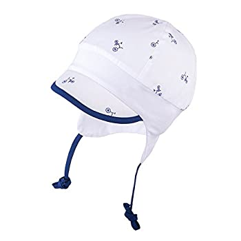 5f2575f55e3 TIE UP 100% Cotton hat with UV +30 SUN PROTECTION Spring Summer BABY BOYS  (Newborn-3 months