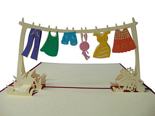 Pu22 Bezaubernde 3D Pop Up Karte mit Umschlag zur Geburt, filigranes Kunstwerk als Glückwunschkarte für Mädchen und Jungen, Geburtskarten, Geburtstag, Glückwunschkarten