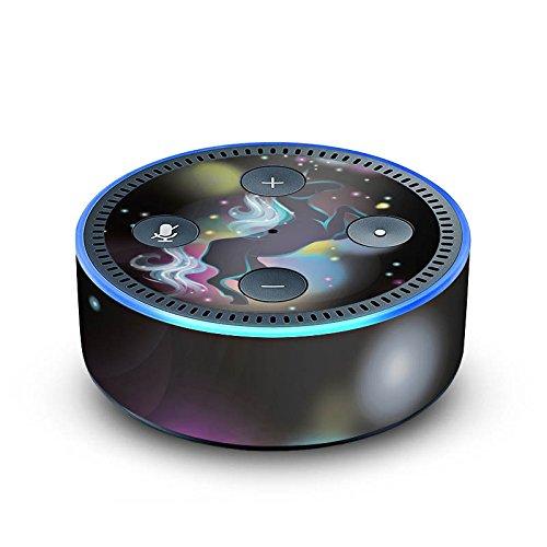 DeinDesign Amazon Echo Dot 2.Generation Folie Skin Sticker aus Vinyl-Folie Einhorn Unicorn Space