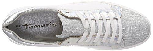 Tamaris 23731, Sneakers Basses Femme Blanc (White Comb)