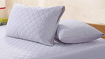SleepyNights Quilted Mattress Protector Topper With Polycotton Side Skirts Non Allergenic Machine Washable
