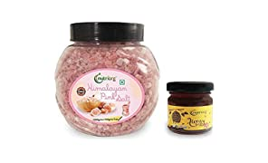 Nutriorg Himalayan Pink Salt 1100g (Get Certified Organic Honey - 50g Free) | 100% Natural | Fine Grain | 80+ Minerals | No Adulteration