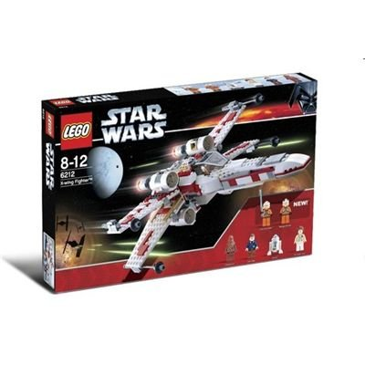 LEGO STAR WARS 6212 - X-Wing Fighter mit 6 Minifiguren, 437 Teile (Lego X Fighter Wing)