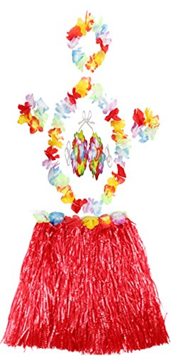 Glossy Look - Jupe - Femme multicolore Multicoloured taille unique 6P Red Hula Set 40cm