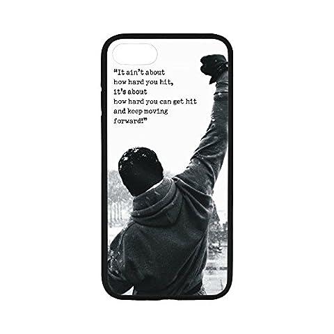 Rocky Balboa Motivational Words Custom iPhone 7 Case Protector iPhone Case Cover for iPhone7 Case(4.7Inch)