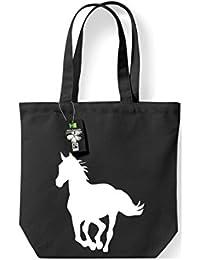 Fairtrade Stoffbeutel Tiermotive Zoo Natur Pferd Fohlen Gaul horse Beutel, Shopper Umhängetasche