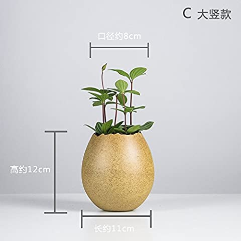 Maivas Vase Creative Mini Multi-Flower Pots Personality Rough Pottery Water Immersion, B Large Vertical Section