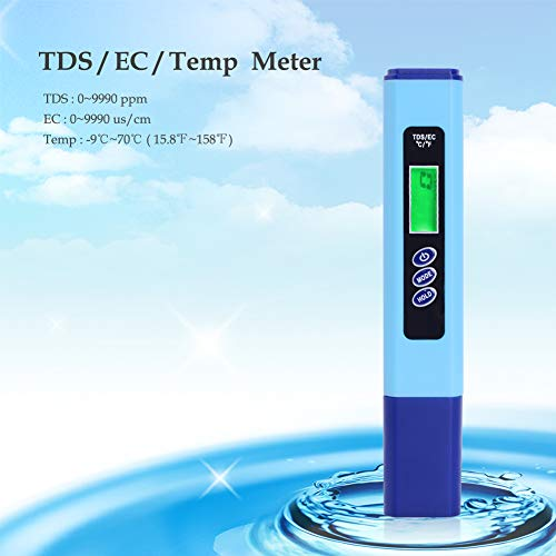 RCYAGO Portable Water Quality Analyzer High Accuracy EC/TDS/Temperature  Triple Digital Water Quality Test Pen With Box