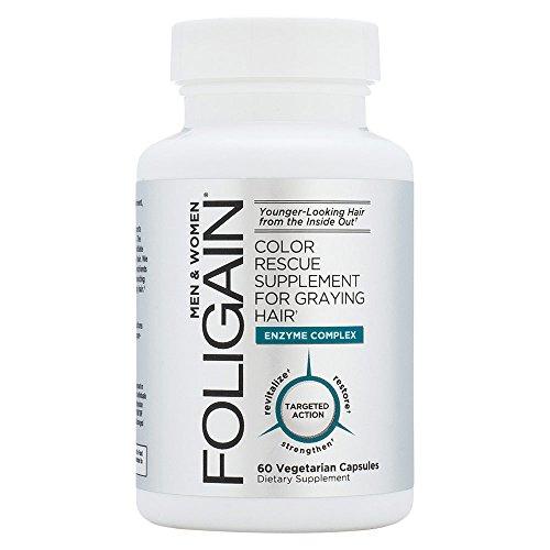 Foligain® Anti Graue Haare   Gegen Graue Haare   Natürliche Haarfarbe Wiedererlangen   Langanhaltende Wirkung & Keine Nebenwirkungen   Stärkt Das Haar (1)
