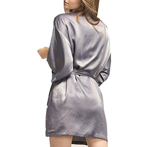 Vestaglia Pigiama Da Donna Accappatoio Accappatoio Pigiama Morbido Camicia Da Notte Con Tracolla Pigiama Estivo Grey