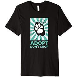 Tierrettung T-Shirt Adopt Don't Shop Pfote Hundefreund Shirt
