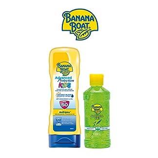 Banana Boat KIDS Pack Familiar – Kit de Crema Solar Niños SPF 50 + Gel After Sun Aloe Vera