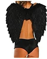 ZANZEA Fashion Women Black White Adult Feather Angel Wings For Party & Stage Perform