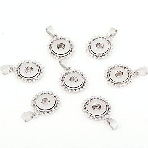 Ginooars 5Stück 12mm Petite Größe Aufhängen Snap, Anhänger für austauschbare Druckknöpfen Charms Jewelry Making-Necklaces, Earring-Handcraft Idee -