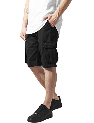 Urban Classics Fitted Cargo Shorts, Pantaloncini Uomo, Nero (Black 7), M