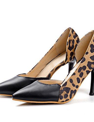 WSS 2016 Chaussures Femme-Bureau & Travail / Habillé / Décontracté-Argent / Or / Léopard-Talon Aiguille-Talons / Bout Pointu-Chaussures à Talons- silver-us6.5-7 / eu37 / uk4.5-5 / cn37
