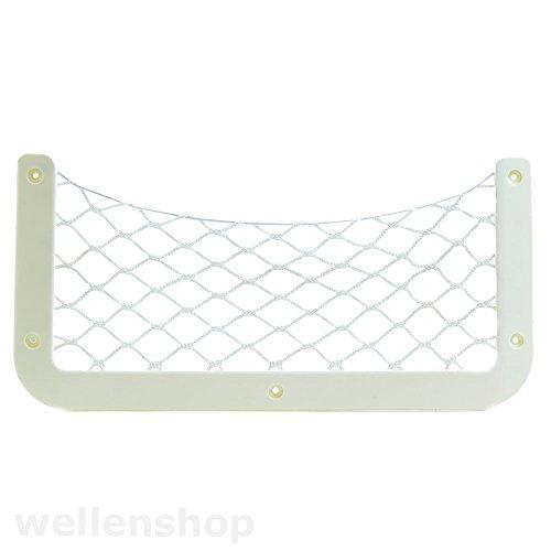 Nautika Ablagenetz Stretch-Depot Mesh-Stretch-Netz Kunststoff Weiß Gepäcknetz Türnetz Netztasche Utensiliennetz (Elastischem Stretch-netz)