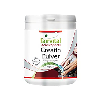 Creatine Powder - Vegan - HIGH Dosage - 400g - creatine monohydrate - Pure Substance Without additives from fairvital