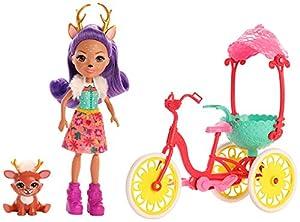 Enchantimals - Muñeca Danessa Deer y su Mascota Sprint en Bicicleta (Mattel GJX30)