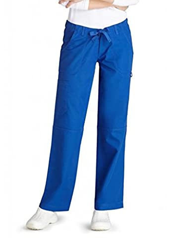 Adar Universal Low-Rise Multipocket Drawstring Straight Leg Pants Petite - 510P - Royal Blue - M