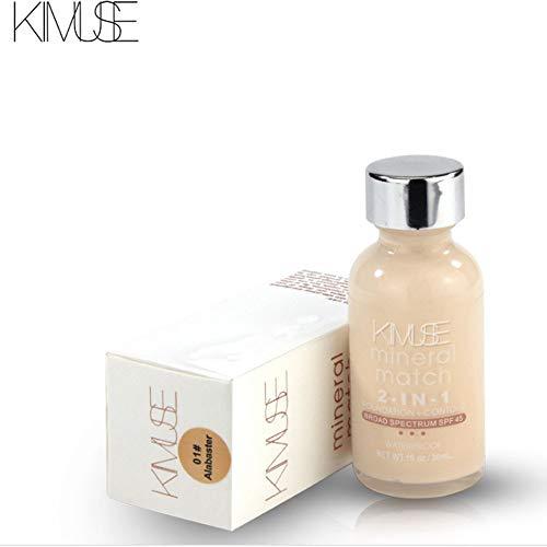 Concealer Palette Creme,Flüssige feuchtigkeitsspendende, lang anhaltende, natürliche Concealer-Make-up-Grundierungscreme,Mehrfarbig
