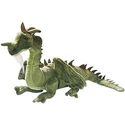 Carl Dick Peluche - Dragón verde sentado (felpa, 30cm) 2626002